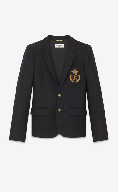 Felt blazer with Saint Laurent badge