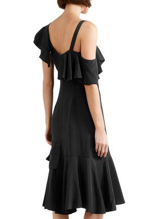 PROENZA SCHOULER Ruffled silk crepe de chine dress