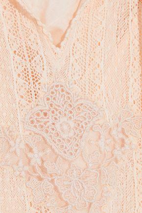 LOVE SAM Tasseled lace cotton blouse