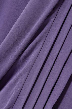 HAIDER ACKERMANN Draped silk-crepe top