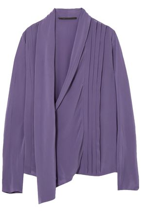 HAIDER ACKERMANN Draped silk-crepe top