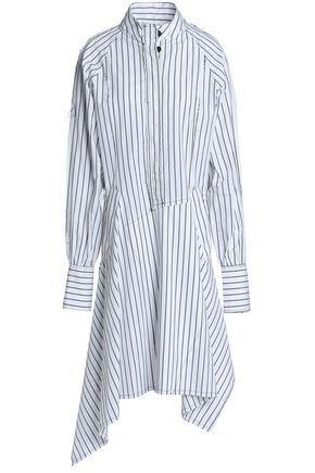 J.W.ANDERSON Patchwork striped cotton-poplin shirt dress
