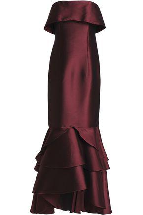 SACHIN & BABI Strapless ruffled duchesse satin gown