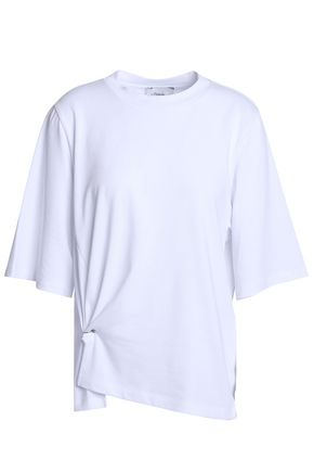 3.1 PHILLIP LIM Gathered cotton-jersey T-shirt