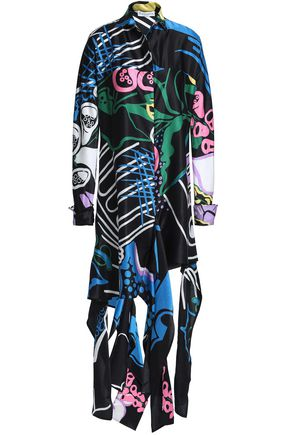 J.W.ANDERSON Floral-print cotton and silk-blend mini shirt dress