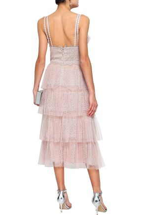 CATHERINE DEANE Katiana tiered lace midi dress