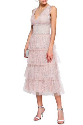 42d0505dc6c CATHERINE DEANE Katiana tiered lace midi dress