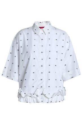 McQ Alexander McQueen Cotton-poplin fil coupé top