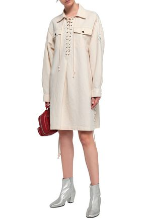 McQ Alexander McQueen Lace-up denim shirt dress