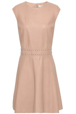 YVES SALOMON Studded leather mini dress