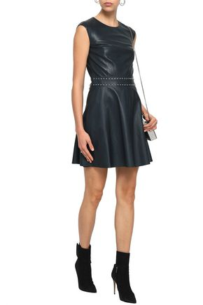 YVES SALOMON Studded leather mini dress