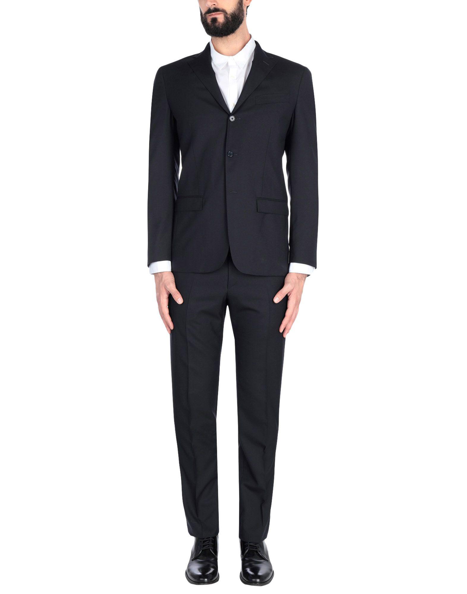 《送料無料》MY OWN SUIT メンズ スーツ ブラック 54 スーパー130 ウール 100%