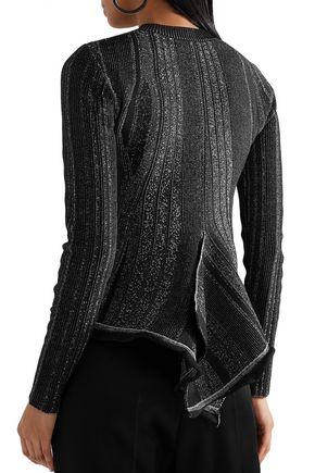PROENZA SCHOULER Ribbed stretch-knit peplum sweater
