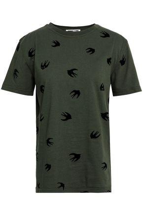 McQ Alexander McQueen Flocked cotton-jersey T-shirt