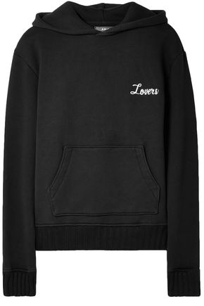 AMIRI Appliquéd cotton-jersey hooded sweatshirt
