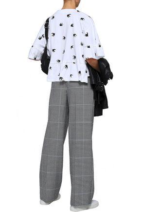 McQ Alexander McQueen Printed cotton-jersey peplum blouse