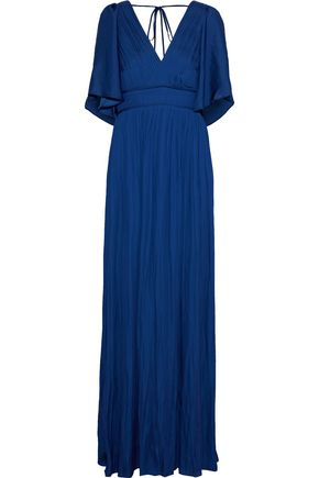 HALSTON HERITAGE Pleated sateen gown