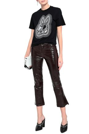 McQ Alexander McQueen Embroidered cotton-jersey T-shirt