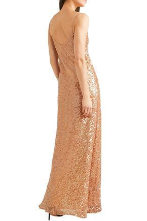 GALVAN  London Estrella sequined tulle maxi slip dress