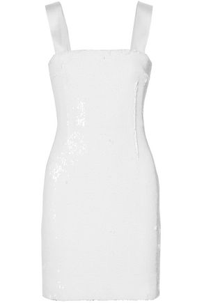 GALVAN  London Salar sequined chiffon mini dress