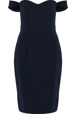 MILLY Karen off-the-shoulder stretch-cady dress