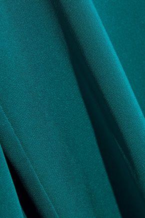 8f7da025ba387 ... MILLY Dahlia cutout stretch-silk blouse ...