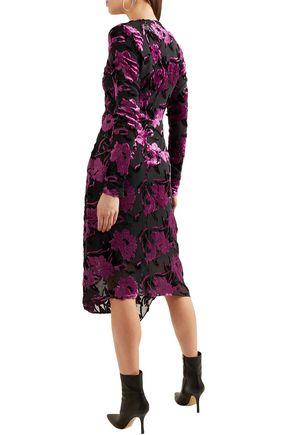PREEN by THORNTON BREGAZZI Alyssa draped devoré-chiffon dress
