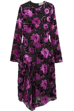 PREEN by THORNTON BREGAZZI Asymmetric devoré chiffon dress