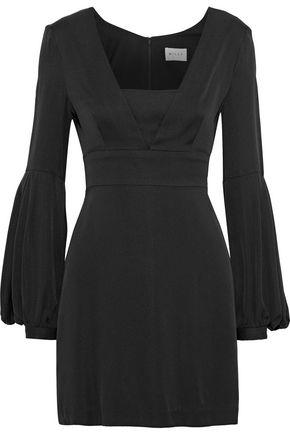 MILLY Kayla fluted stretch-silk mini dress