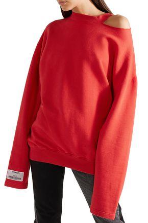 VETEMENTS Oversized  cutout stretch-cotton jersey sweatshirt