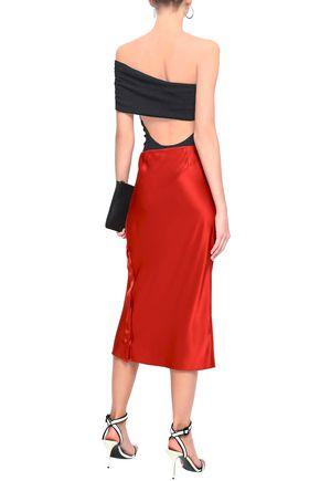 ALIX Off-the-shoulder cutout crepe bodysuit
