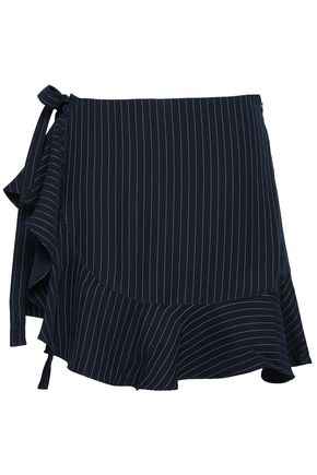 CINQ À SEPT Luella pinstriped twill shorts