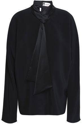 LANVIN Satin-trimmed cady blouse