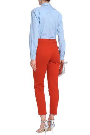 MARCO DE VINCENZO Satin-appliquéd cotton-blend poplin shirt
