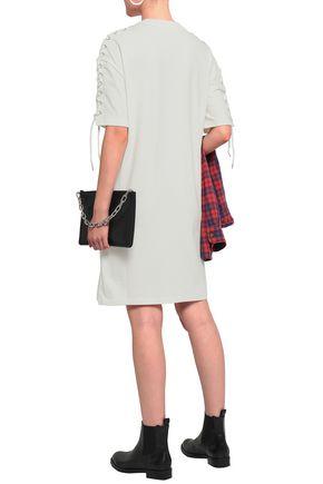 McQ Alexander McQueen Lace-up cotton-jersey mini dress