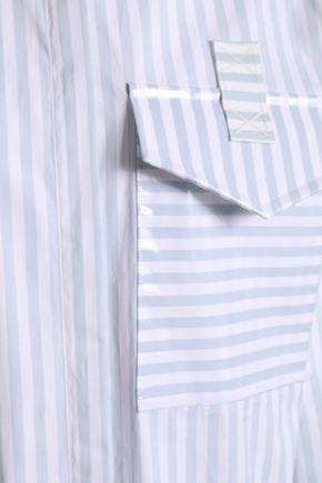 MARCO DE VINCENZO Coated striped cotton blouse
