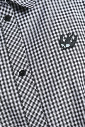 McQ Alexander McQueen Appliquéd gingham cotton top