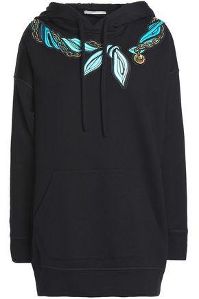 MARCO DE VINCENZO Appliquéd French cotton-terry sweatshirt