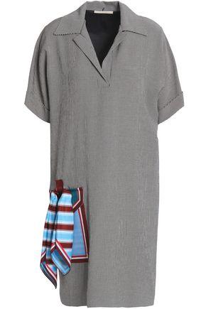 MARCO DE VINCENZO Embellished gingham woven dress