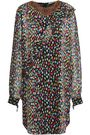 MARCO DE VINCENZO Ruffled printed georgette mini dress