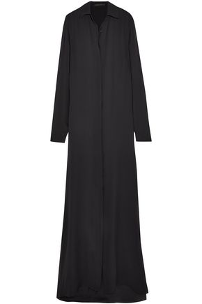 JUAN CARLOS OBANDO Silk-georgette maxi shirt dress