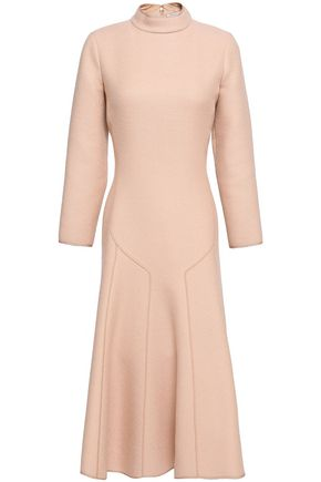 AGNONA Fluted wool-crepe dress
