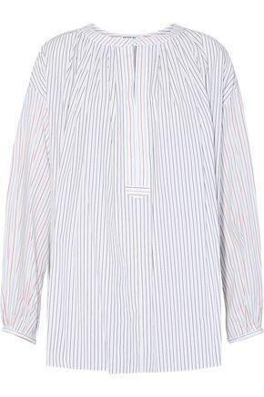 SONIA RYKIEL Striped cotton-poplin top