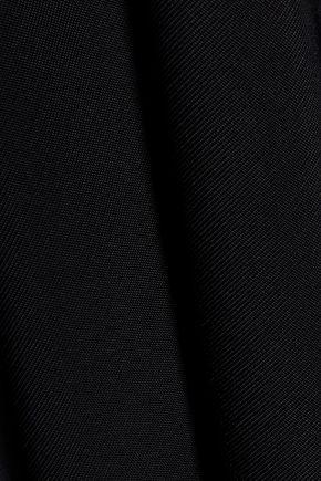 BALMAIN Draped paneled knitted top