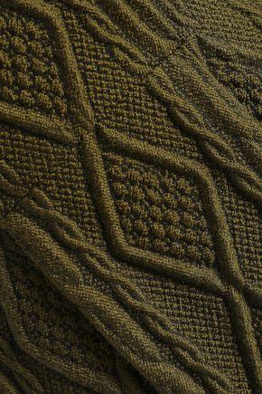 BOUTIQUE MOSCHINO Cable-knit jacquard mini dress