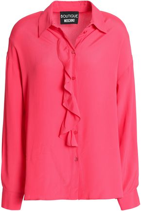 BOUTIQUE MOSCHINO Ruffled crepe de chine blouse