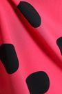 BOUTIQUE MOSCHINO Polka-dot crepe top