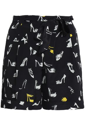 BOUTIQUE MOSCHINO Printed silk shorts