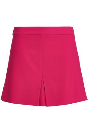BOUTIQUE MOSCHINO Pleated twill mini skirt