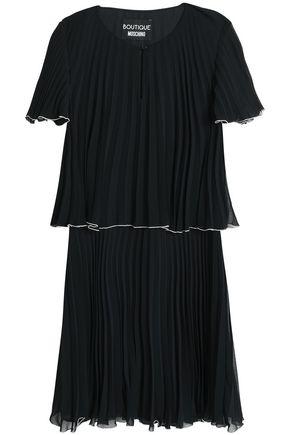 BOUTIQUE MOSCHINO Georgette plissé mini dress